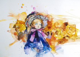 楽しく水彩画をのイメージ