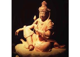 仏像制作の稽古のイメージ